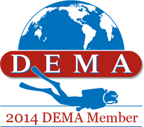 Dema 2014 Badge for Deep blue Scuba